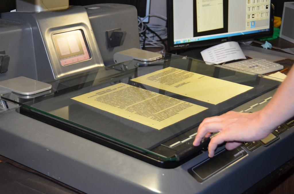 Специализированное сканирование и оцифровка книги