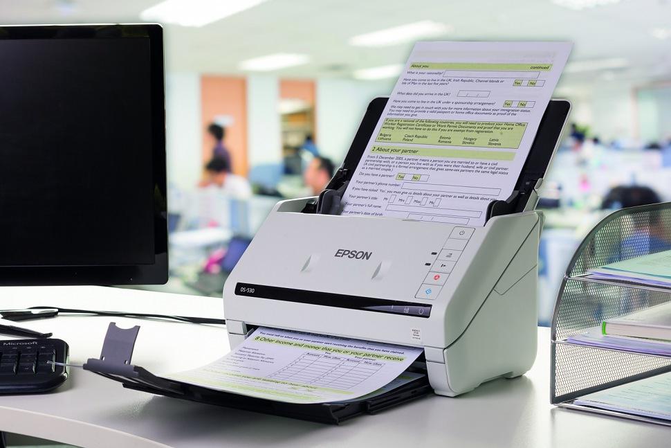 Поточный сканер в действии