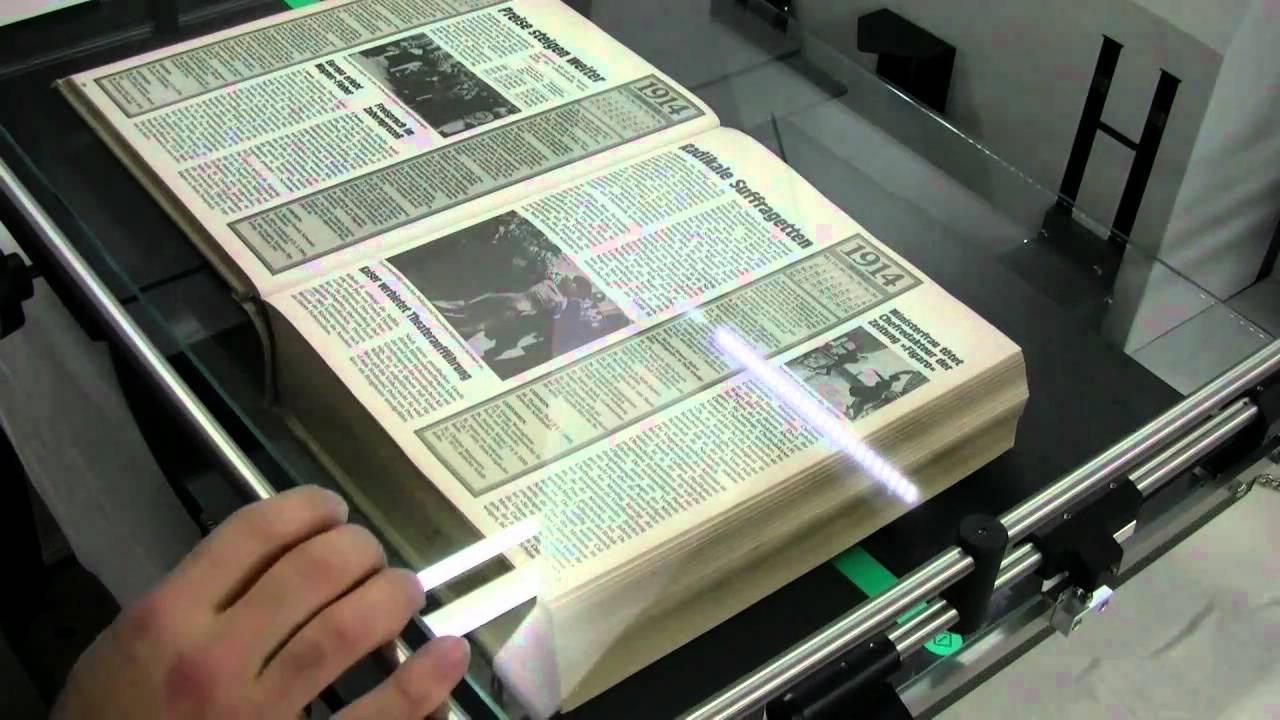 Хранение старых книг с помощью оцифрования и сканирования