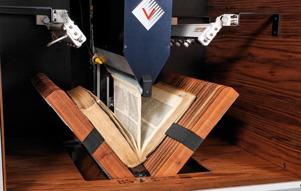 Специализированное оборудование для автоматического сканирования книги