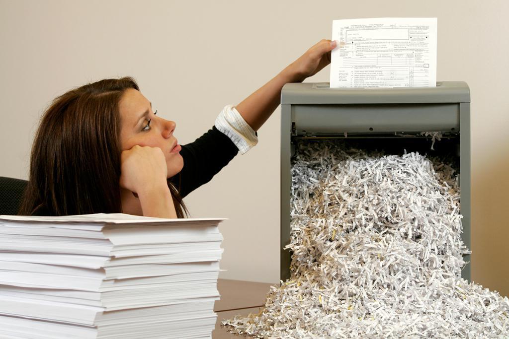 Уничтожение различной документации